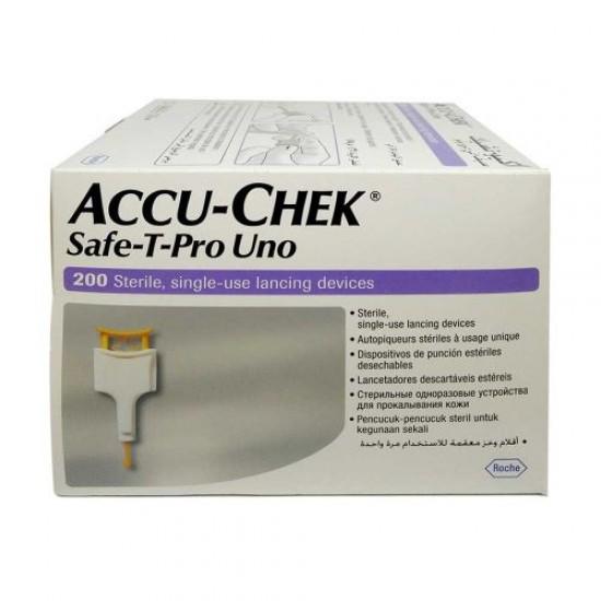 Accu-Chek Safe-T-Pro Uno Lancets X 200