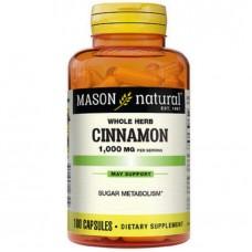 Mason Natural Cinnamon 1000mg Dietary Supplement -100 Capsules