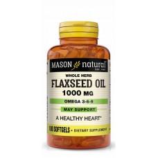Mason Natural Flaxseed Oil 1000mg, 100 Softgels