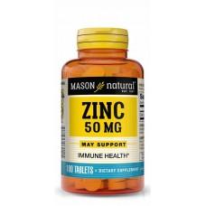 Mason Natural Zinc tablets 50mg x 100